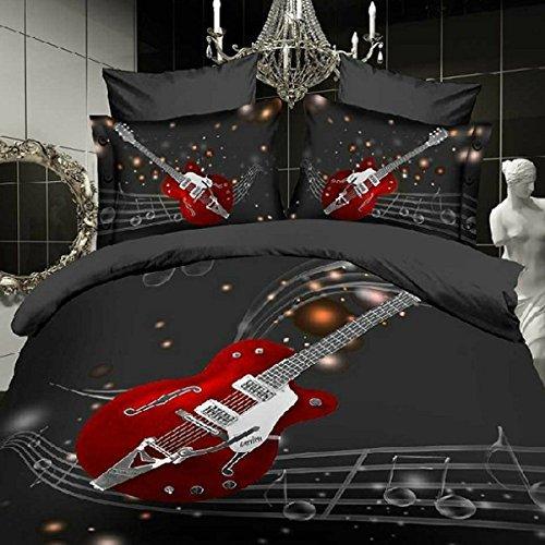 guitar design bedding set