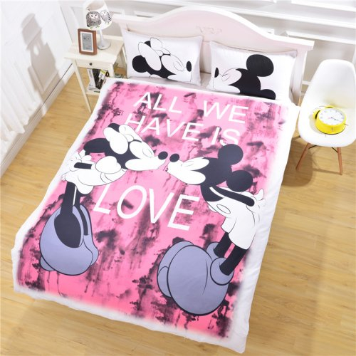 Mickey Mouse Love Bedding