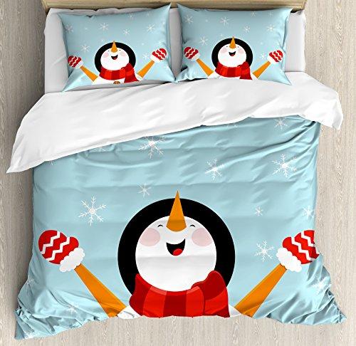Smiling Snowman Bedding Set