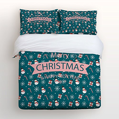 Green Christmas Duvet Cover Set