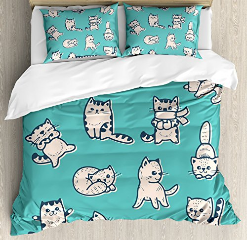Cartoon Cats Duvet Cover Set
