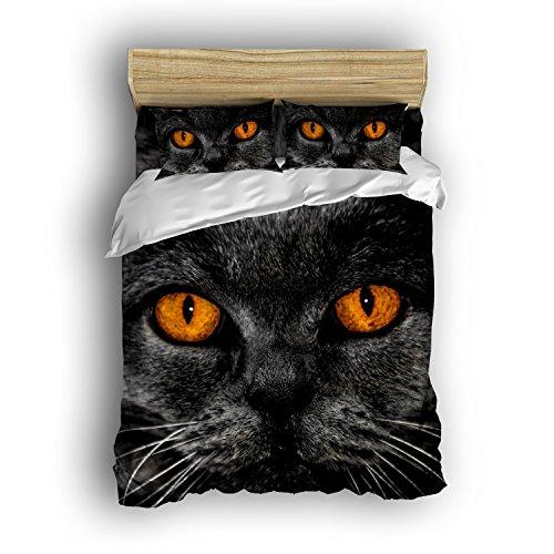 cat eyes print bedding
