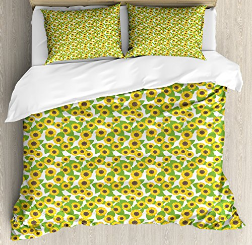 Sunflowers Pattern Bedding Set