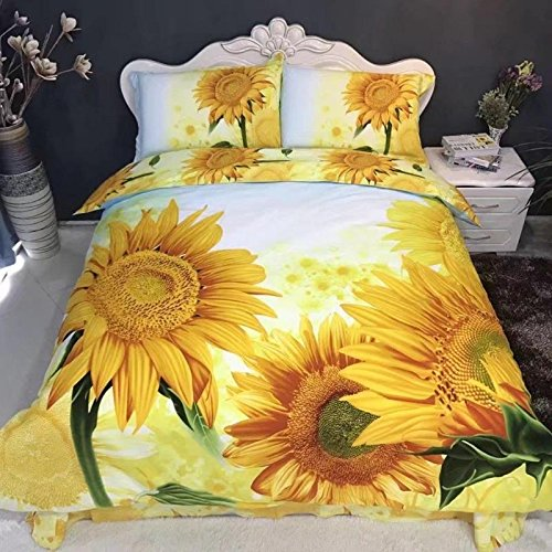 sunflower print bedding set