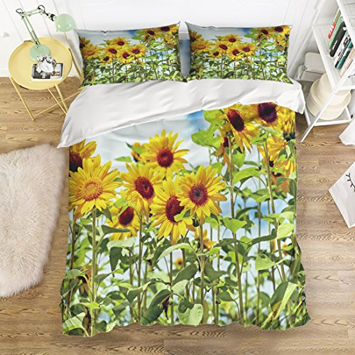 Sunflower Pattern Printed Bedding Set