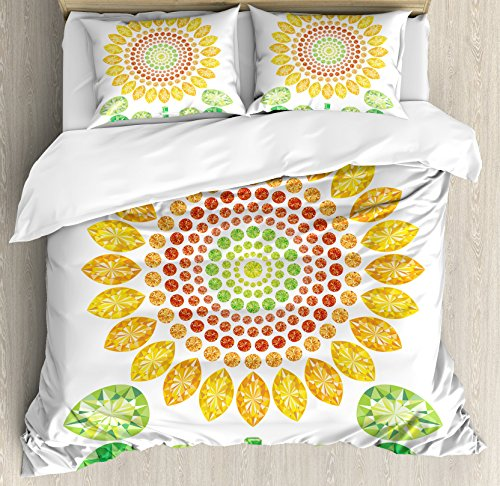 unique sunflower design bedding