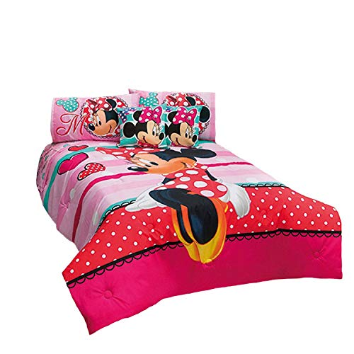 Cute Minnie Mouse Comforter Set