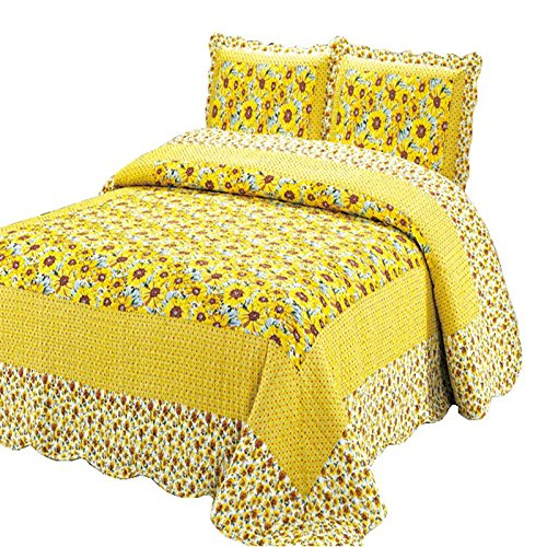 Sunflower pattern quilt set