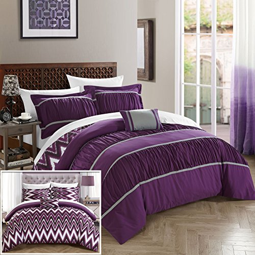 Cute Purple Comforter Set for Teenage Girls