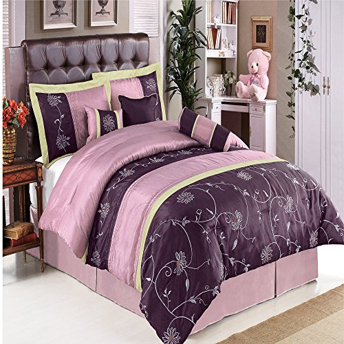 purple comforter set king size