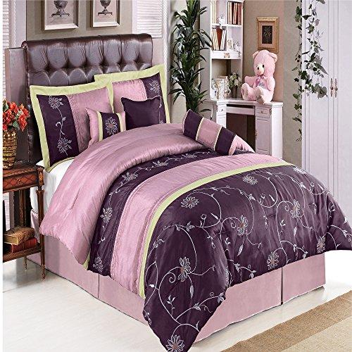 purple comforter set king size
