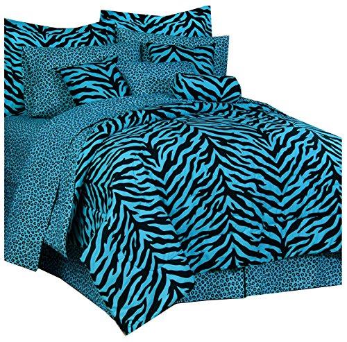 Blue Zebra Print comforter