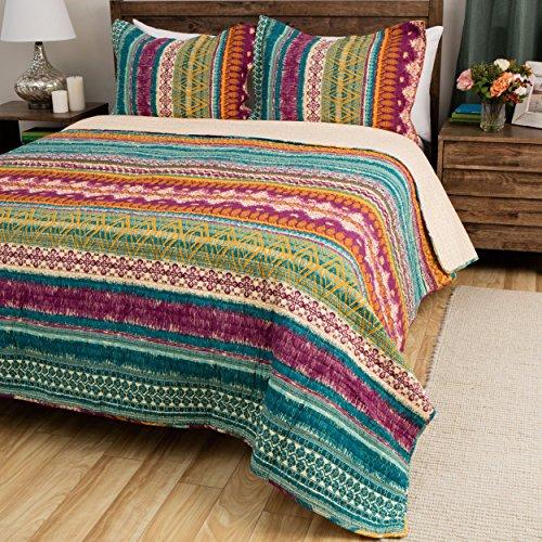 tie dye quilt set rainbow
