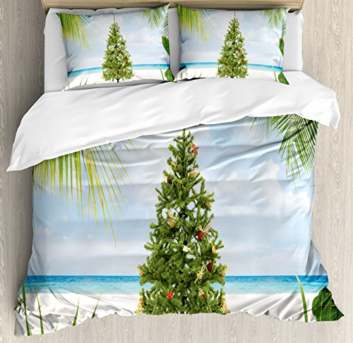 cute Christmas tree duvet cover set