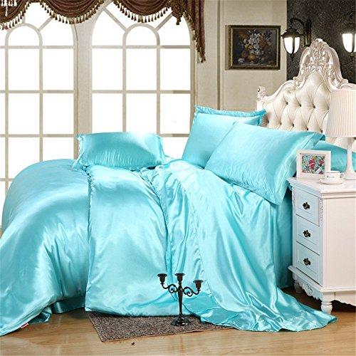 Blue Satin Comforter